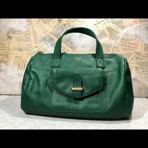 Fossil Emerald Green Satchel